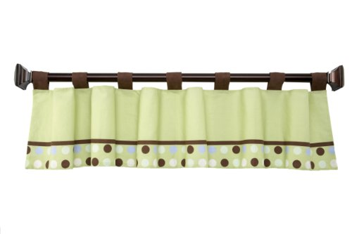 NoJo Little Bedding Jungle Pals Window Valance