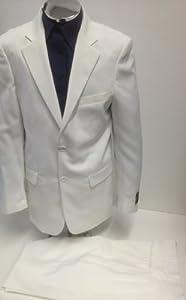 B00C0L5I7W New Men's 2 Button Cream Dress Suit – Includes Jacket and Pants