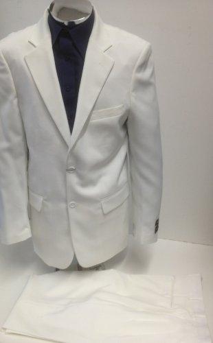 60s Mens Fancy Dress (New Mens 2 Button Cream Dress Suit - Includes Jacket and Pants, Cream, 62 Regular)