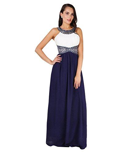 Dress Long Navy Elegant 5274 Ceremony Party Krisp Cream Blue A75wFFq