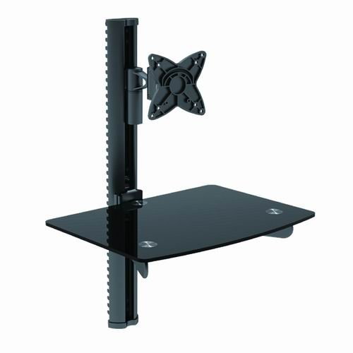 Mount-It! Wall Mounted TV and Component Shelf Combo DVD DVR