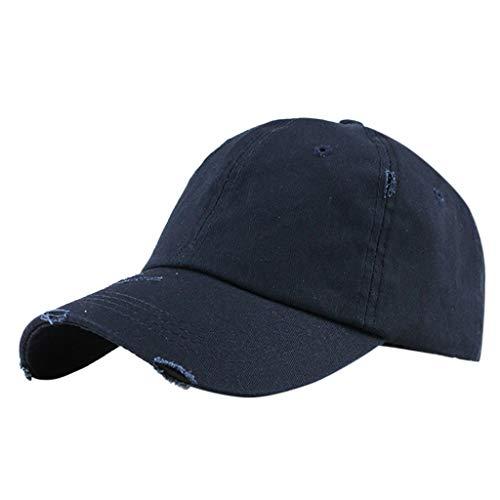 Chicago Cubs Navy Visor - Unisex Baseball Visor Cap - Ponytail Messy Buns Trucker Plain Men Women Hat Adjustable Saturday Cap