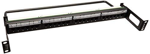 Leviton 69586-R24 Extreme Cat 6+ Universal Recessed Patch Panel, 1RU, 24-Port