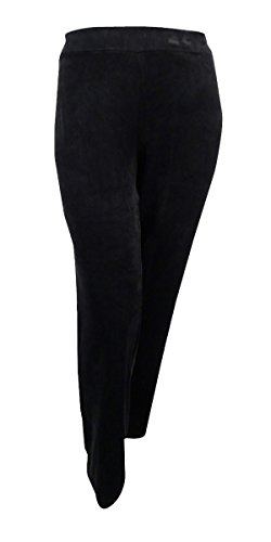 Karen Scott Womens Velour Wide Leg Casual Pants Black XL (Velour Wide Leg)