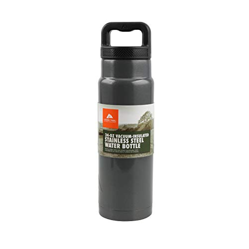 Ozark Trail 24ounce Vacuum Insulated Stainless Steel Water Bottle, Gray