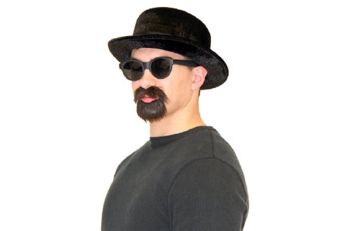 Heisenberg Beard (Pork Pie Hat, Beard & Mustache Walter Alias Costume Set)