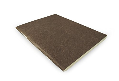 Nepali Companion Notebook with Handmade Paper and Vegetable-Dyed Cover. Made in Nepal (Large, Dark Walnut)