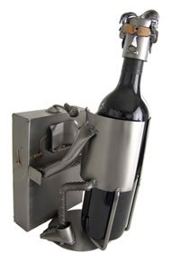 Piano Player Wine Caddy by HK Sculptures