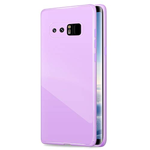 Galaxy Note8 Case, ANLEY Candy Fusion Series - [Shock Absorption] Classic Jelly Silicone Case Soft Cover for Samsung Galaxy Note 8 (Lavender Purple) + Free Ultra Clear Screen Protector