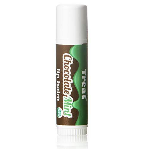 TREAT Jumbo Lip Balm, Organic & Cruelty Free (.50 OZ) (Chocolate Mint Lip Balm)