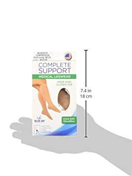 Complete Medical Microfiber Moderate 15-20 mmHg Knee Highs 0.1 Pound Global Supply Outlet BJ395BGXL X-Large Beige