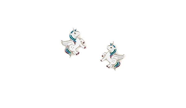 d962d6286 Amazon.com: Claire's Girl's Flying Unicorn Stud Earrings: Jewelry