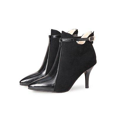 RTRY Zapatos De Mujer Cuero De Nubuck Polipiel Primavera Otoño Moda Botas Botas Stiletto Talón Señaló Toe Botines/Botines Conjunta Dividida Zipper US5 / EU35 / UK3 / CN34