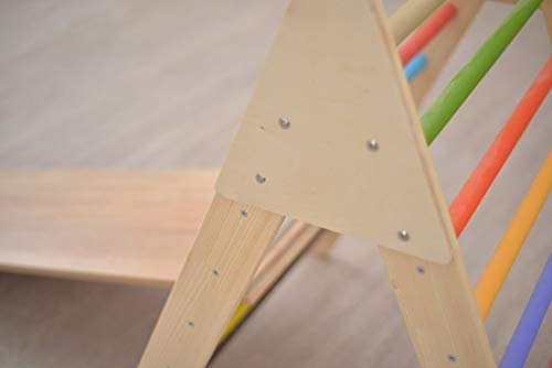 Smart Kids Wooden Little Climber with Slide - Foldable Pikler Triangle - Montessori Ramp - Montessori Triangle - Climbing Gym - Toddler Climber (Painted) by Smart Kids (Image #4)
