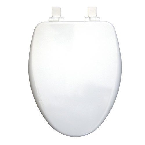 Bemis 19170PLSL 000 Slow Close Elongated Closed Front Toilet Seat, White by Bemis