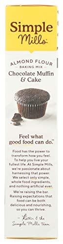 Simple Mills Almond Flour Baking Mix, Gluten Free Chocolate Cake Mix, Muffin pan ready, Made with whole foods, (Packaging May Vary), 11.2 Ounce (Pack of 1) 7
