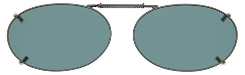 Cocoons Polarized Clip-on Oval 2 L618G Sunglasses, Gunmetal, 48 mm