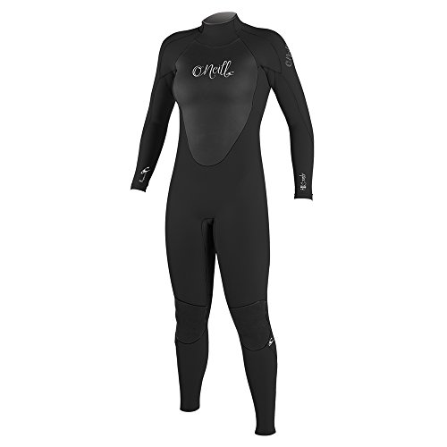 O'Neill Women's Epic 4/3mm Back Zip Full Wetsuit, Black/Black/Black, 10 Tall ()