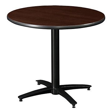 - Round Break Room Table with Arched Base - 30