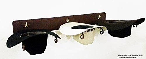 Mark Christopher Collection American Made Cowboy Hat Holder STAR 693CT Classic Home Decor 693 STAR CT