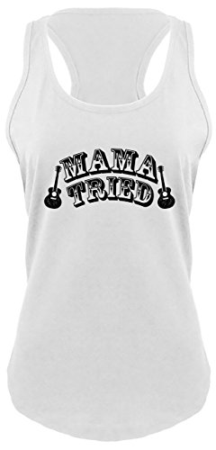 49fa0c06c98bd7 10 · Ladies Racerback Tank Mama Tried Cute Country Music Southern Rebel  Shirt White 2XL