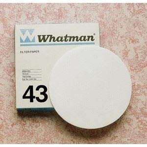 43 Quantitative Filter Paper - Whatman 1443-125 Ashless Quantitative Filter Paper, 12.5cm Diameter, 16 Micron, Grade 43 (Pack of 100)