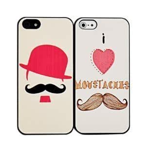 Generic 2pcs His & Hers Chaplin mustache Matching Couple Cell Phone Cases for iPhone 6 (4.7 Inch Screen) wangjiang maoyi
