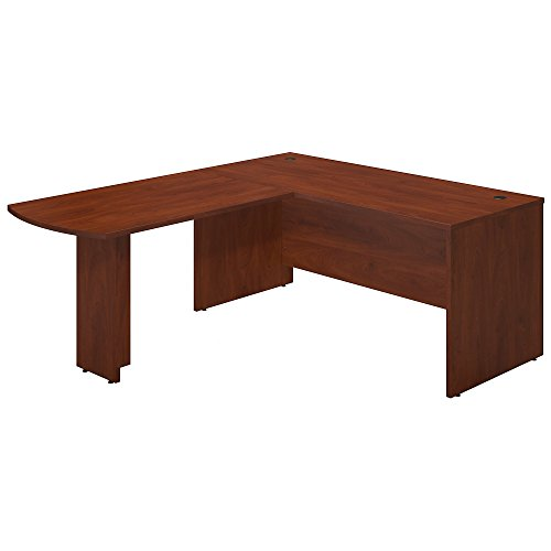 Bush Business Furniture Series C Elite 66W x 30D Desk Shell with 48W Peninsula Return in Hansen Cherry