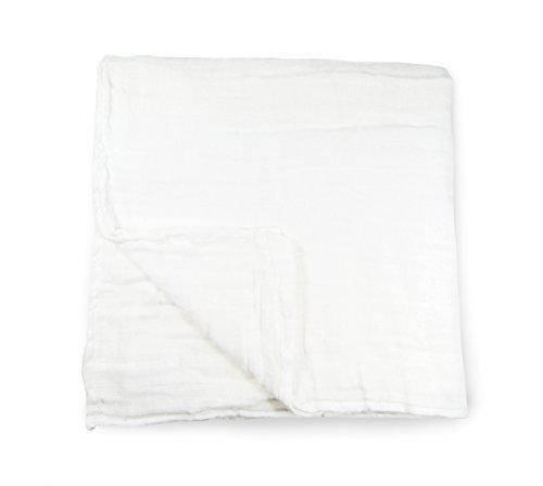 Solid Muslin Cotton Blanket (White)