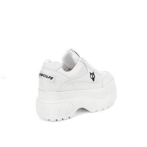 Naked 6 Wolfe Bianca Nr Scary Sneaker Zeppa Pelle 36 rvxq1rw