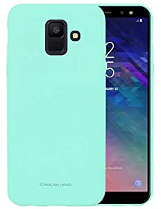 Samsung Galaxy A8 2018 Molan Cano Flexible Matte Silicone Soft Back Case - Mint Green