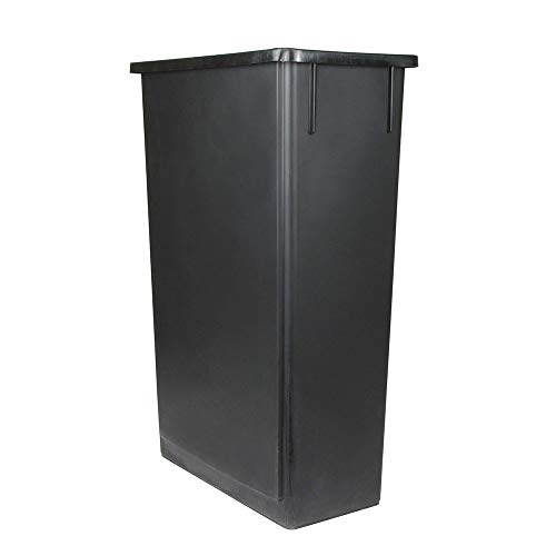 Update International  SSC-23BK Space Saver Trash Can, Black 23 Gallons ()