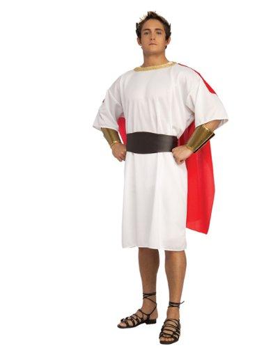 Adult Men's Roman Centurion Political Diplomat Costume Large 46 White