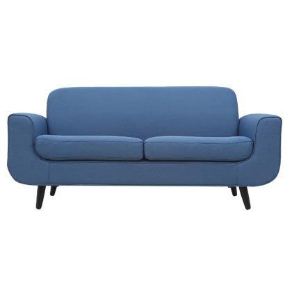 ソファ ソファー 2人掛け カフェ風ソファ カフェ風 北欧 リビング 【Falun】 (ブルー) B00XZT9JBO ブルー ブルー