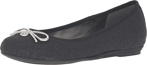 G by GUESS Women's Fana Black Logo Flat 7.5 M
