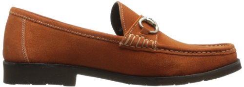 Flors Mens Tuscany Bit Slip-on Loafer Apelsin Mocka