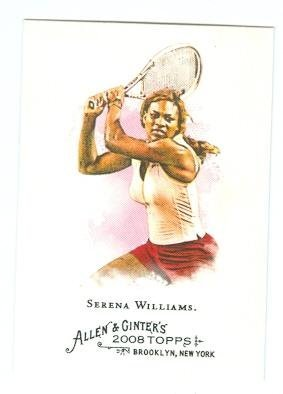 (Serena Williams trading card 2008 Topps Allen and Ginters #249 Tennis Champion)