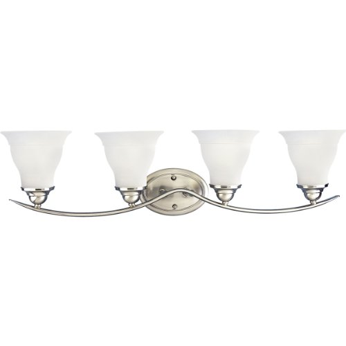 (Progress Lighting P3193-09 4-Light Bath Bracket, Brushed Nickel)