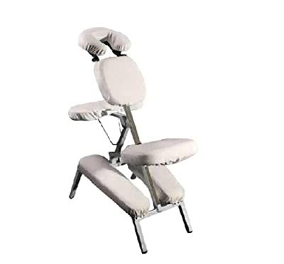 Eshion 6Pcs Beauty Salon Spa Massage Tattoo Chair Deluxe Flannel Portable Chair Cover,Beige
