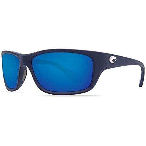 Costa Del Mar Tasman Sea 580P Tasman Sea, Matte Dark Blue Blue Mirror, Blue - Men Used Sunglasses S