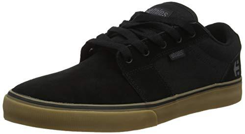 (Etnies Men's Barge LS Skate Shoe Black, 9 Medium US)
