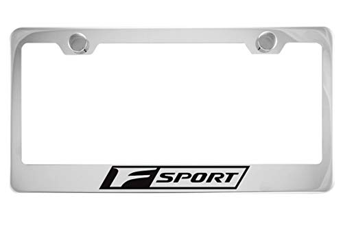 Lexus F Sport Chrome License Plate Frame with Caps