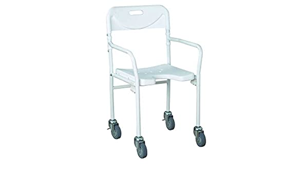 Tobago - Silla de ducha plegable con ruedas: Amazon.es ...