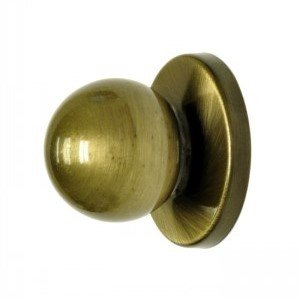 (Pack of 2) Antique Brass Bi-fold Knob with backplate