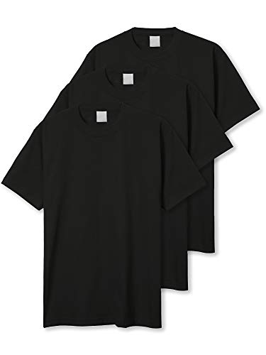 Hat and Beyond Mens Super Max Heavyweight Cotton T Shirt Solid Short Sleeve Tee S-5XL (2X-Large, 3PACK Black) -