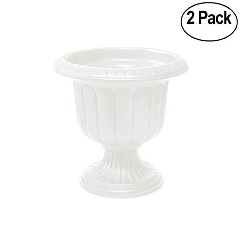 Novelty Classic Urn Planter, White, 19-Inch - Pack of 2 -
