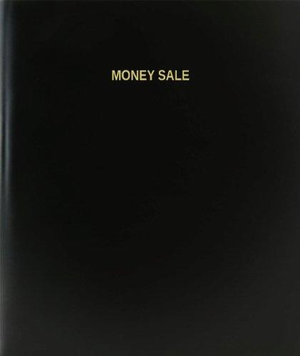 BookFactory® Money Sale Log Book / Journal / Logbook - 120 Page, 8.5''x11'', Black Hardbound (XLog-120-7CS-A-L-Black(Money Sale Log Book)) by BookFactory