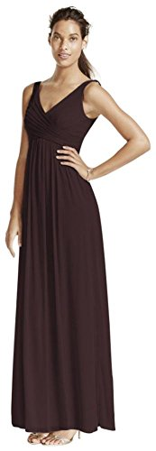 Long Mesh Bridesmaid Dress With Cowl Back Detail Style F15933  Truffle  10