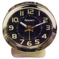 Geneva/Advance Clock 2060AT Keywound Almond/Brown Alarm Clock - Quantity 6 -