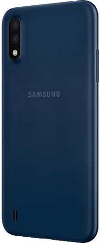 """Samsung Galaxy A01 (A015M) 16GB, Dual SIM, GSM Unlocked, 5.7"""" Display Smartphone – International Version – Blue 31DiNuChyuL"""